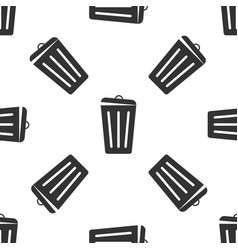 trash can isolated icon seamless pattern vector image