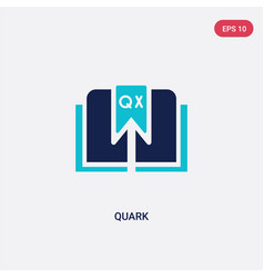 Two color quark icon from edit tools concept vector