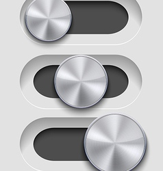 ui Slider seton gray background Eps10 vector image