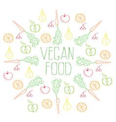 Vegan food background vector