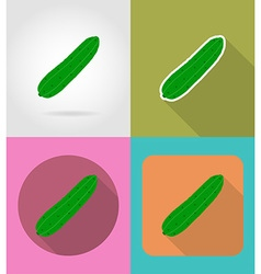 vegetables flat icons 04 vector image