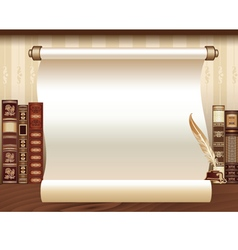 Vintage book Template vector image