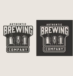vintage monochrome beer emblem vector image