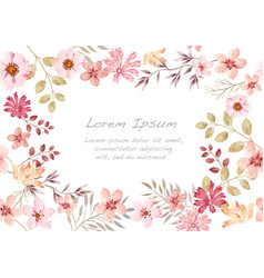 watercolor seamless floral background vector image