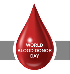 World blood donor day june 14th icon vector