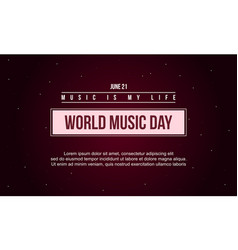 World music day celebration art vector