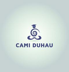 Yoga logo education and learning logo design vector