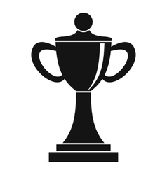 Championship cup icon simple style vector image