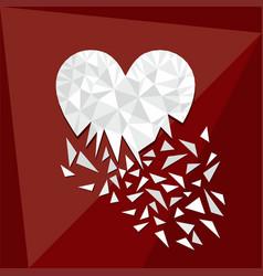 digital geometric romantic template vector image