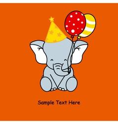 Elephant birthday vector image vector image