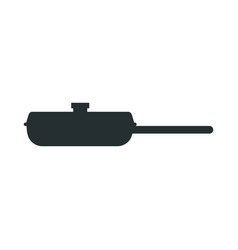 frying pan for cooking handle round object vector image