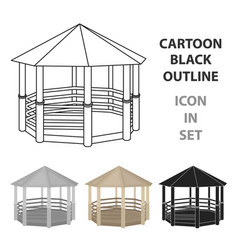 gazebo icon in cartoon style isolated on white vector image