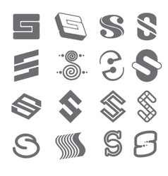 Geometric shapes for s letter logo and monogram vector