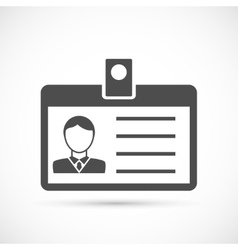 Identification card for man icon vector image