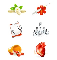 Medicine set of icons vector image vector image