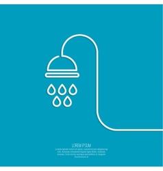 Shower handle vector
