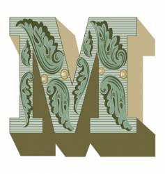 western letter m vector image