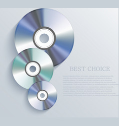 cd background Eps10 vector image vector image