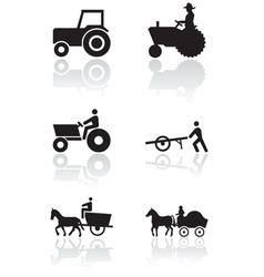 farmer symbol set vector image