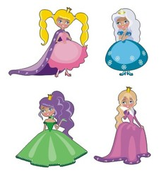 four princesses vector image vector image