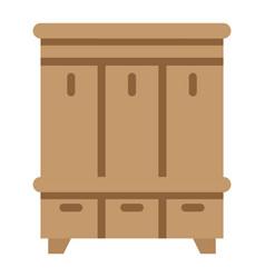 hallway closet flat icon furniture and interior vector image vector image