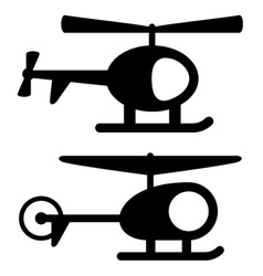 helicopter black symbols vector image vector image
