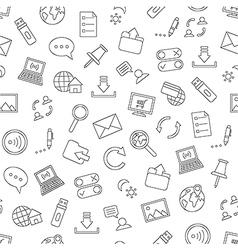 Pattern communication black icons vector image