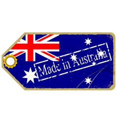 Vintage label with the flag of Australia vector image