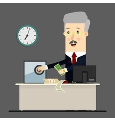 Bussinessman boss manager Successful vector image vector image