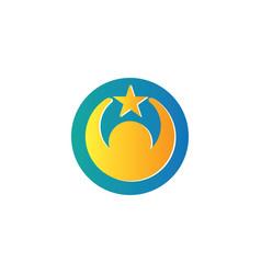 circle human star logo vector image
