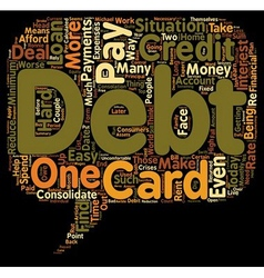 How To Pay Off Debt text background wordcloud vector image vector image