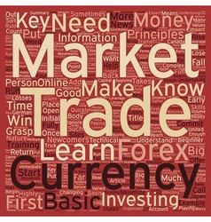 How To Win Big In The Currency Market text vector image