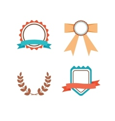 Labels set in trendy modern style vector image