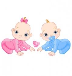cute creeping twins vector image