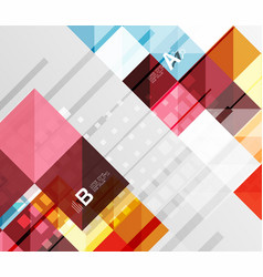 Minimalistic square shapes abstract background vector