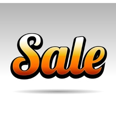 Sale title for labels on light background vector