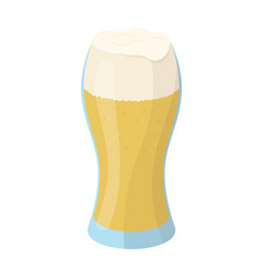 A glass of wheat beer with foamalcoholic beverage vector
