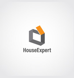 abstract simple clean house logo sign symbol icon vector image