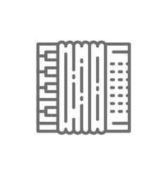 accordion bayan line icon vector image
