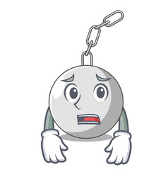 Afraid wrecking ball isolated on a mascot vector