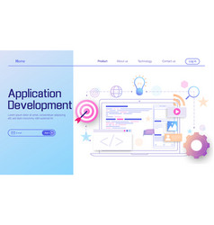 application development and web development vector image