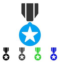 Army star award flat icon vector