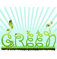 beautiful nature background vector image