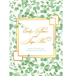 Beautiful rustic wedding invitation card with vector
