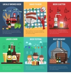 Beer Poster Set vector image