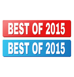 Best of 2015 text on blue and red rectangle vector
