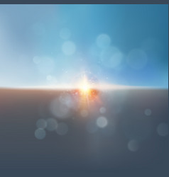 Bright dramatic sky and dark ground eps 10 vector