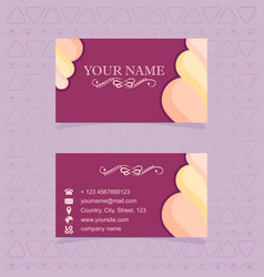 Business card for confectioners vector