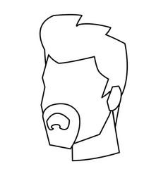 businessman profile male portrait business line vector image