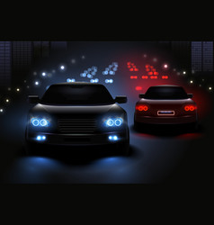 car led lights composition vector image